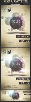Minimal Party Flyer Template by Hotpindesigns
