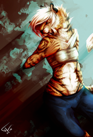 golden tiger by wyum