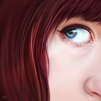 (digital) eyes are the mirror to the soul by MaayaInsane