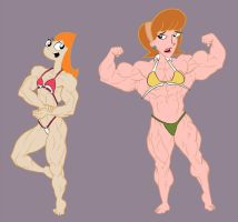 Muscle Toon Network 4 by RedSilverArtist