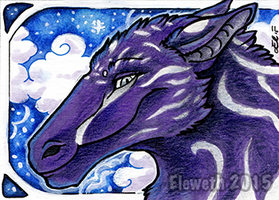 Advent ACEO: Dragoness by Eleweth