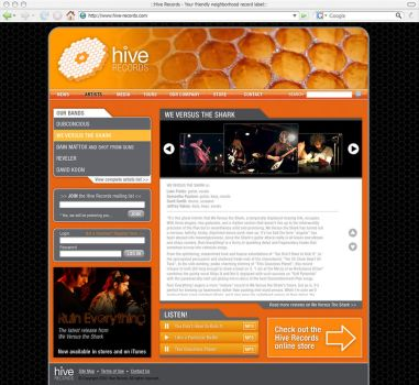 Hive Records Interior Page by OBEY-OBEY
