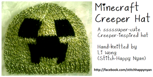 Knitted Minecraft Creeper Hat by Stitch-Happy