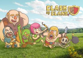 Clash of Clans by BIGMOUTH-design