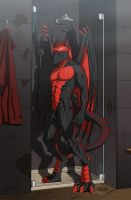 A Dark Shower by ReptileCynrik