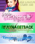 PACK PNG LYRICS - Demi Lovato by SashaBelxs