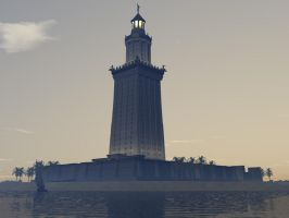 Great Lighthouse of Alexandria by Prometheus273