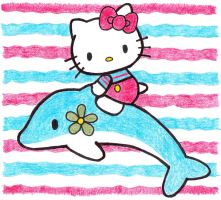 Hello Kitty - Dolphin by NiT3MaReB4XmAs9