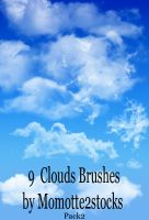 Brushes 2 - HR clouds brushes by Momotte2stocks