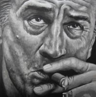 Robert De Niro Painting by JonMckenzie