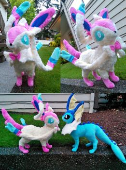 Large Sylveon plush by Chochomaru