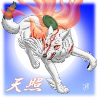 Okami : Amaterasu by SheltieWolf