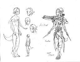 Reference: Arikad Race, Hunter Class by Faullyn