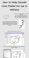 How To Pixelize Lineart For Easier Use In MSPaint by zo-ei