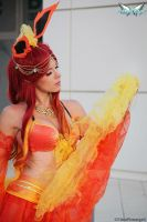 Dancer Flareon by MiciaGlo