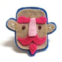 Pink D'Artagnan Felt Pin by TRAVALE