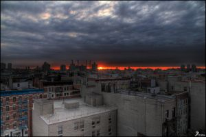 New York on fire by Chribba