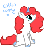 cotten candy by JessLikesCookies