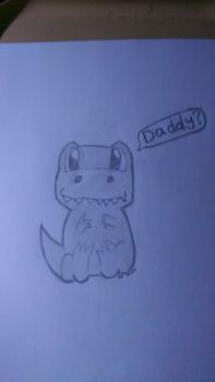 Chibi Dinosaur: Daddy? by snoopysoap