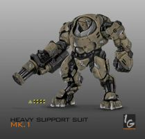 HEAVY SUPPORT SUIT MK.1 (Commission) by ianskie1