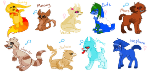 Solar System Adoptables Auction (Closed) by DetritusDroid