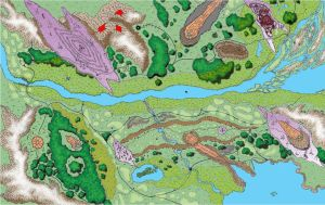 Lenmoria Elven Kingdom RPG Map Full Color by AbstractPagan