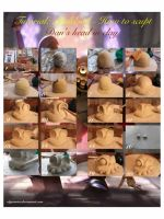 Tutorial : How to sculpt Sir Dan's head in clay by olgatarta