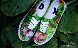 Donkey Kong Country Shoes by Bobsmade
