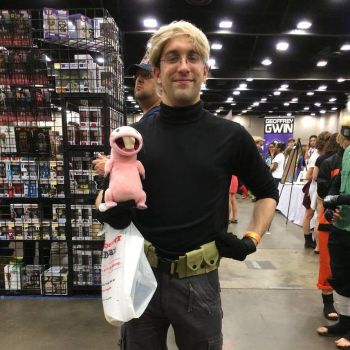 Me at the MS Comic Con (July 25) as Ron Stoppable by Sharper-The-Writer