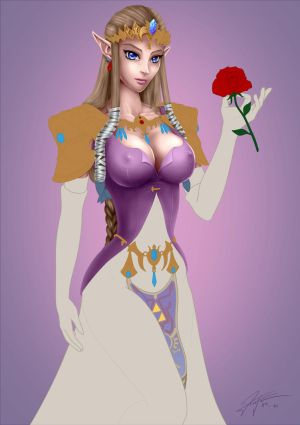 Legend of Zelda - Princess Zelda Pin-up - WIP v0.5 by lthot