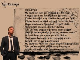 Alan Rickman and Sonnet 130 by GothPoetGirl
