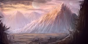 Spined mountains by conceptfox