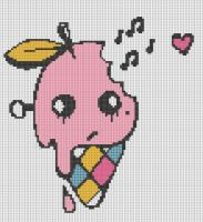 Emo Ice Cream Pattern by KittyBywaters