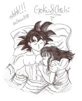 sleep, shhh.... chichi y goku by ZenssaypimI