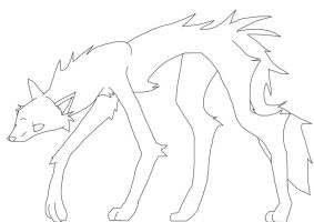 Free wolf lineart by Acer0