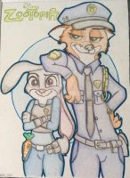 Zootopia #2 : Judy and Nick, The ZDP partners.... by DAKA-DoubleAgent