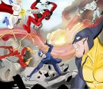 Avengers vs Justice League by ProjectCornDog