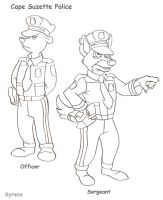 TaleSpin Cape Suzette Police by SlayerSyrena