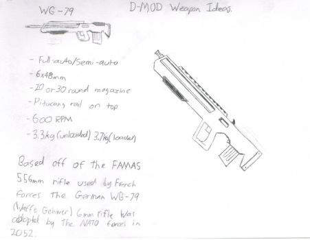 WG-79 Assualt Rifle Concept. by SgtMuffin