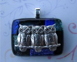 Little Owls On Fused Glass by FusedElegance