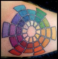 Color Wheel Tattoo by badfish1111