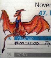 Smaug doodle by nose-to-the-wind