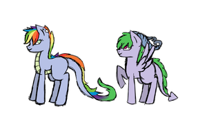 Adoption ponies [OPEN 1/2] Rainbow Dash x Spike by MissyPL