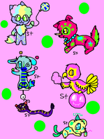 PARTY ANIMAL ADOPTS~ OPEN!! by spottedtail223