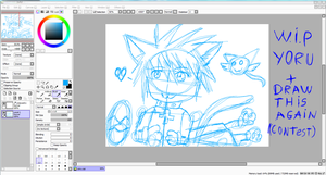 WIP : Redraw Yoru for Draw This Again (contest) by JackFrost-LCDA