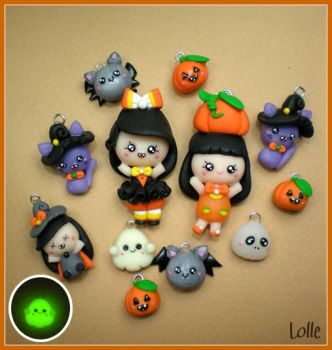 Fimo Halloween Time by LolleBijoux