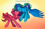 Commision - Crimson Ember and Cloud Trotter by ka-samy