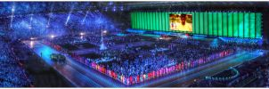 Glasgow Commonwealth Games Opening Ceremony HDR by Dr-Koesters