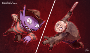 PokeHalloween: Day 25 - Get Ready to Rumble! by QuantumJinx