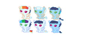 Soarindash draw to adopt foals! by star4567980